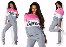 Free transport 2016 spring autumn  want new girls's letter  printing and leisure swimsuit trend hotsale woman's hoodies units