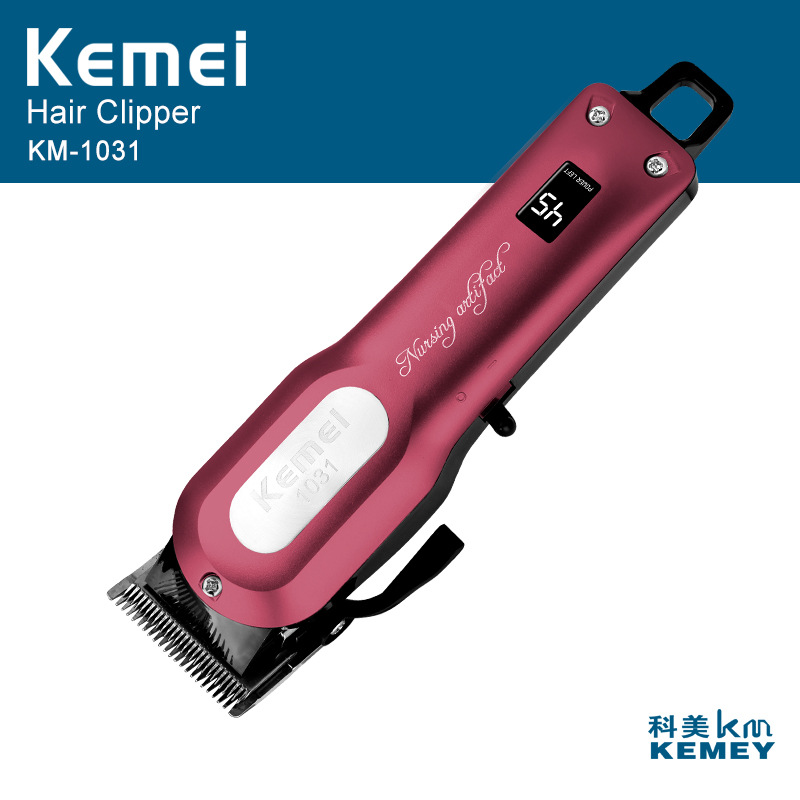 Kemei KM-1031 Professional Hair Clipper Electric Hair Beard Trimmer Powerful Hair Shaving Razor Cordless Hair Cutting Machine