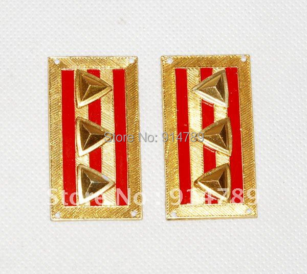 WWII CHINESE KMT KUOMINTANG ARMY COLONEL COLLAR TABS -32039
