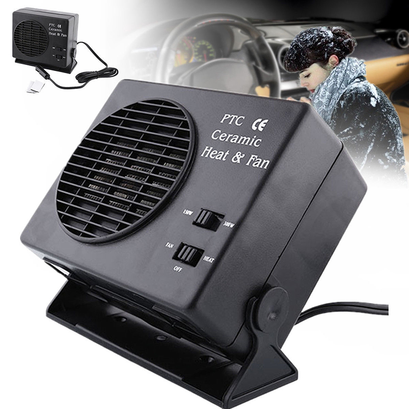 BYGD 1PC 2 in 1 Electric 12V 300W Car SUV Vehicles Portable Ceramic Heating Cooling Dryer Warmer Fan Demister Defroster XNC