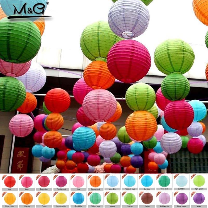 10-50cm China Paper Lantern Festival Supplies Birthday Wedding Party Decoration Decor Gift Craft DIY Lampion Lantern