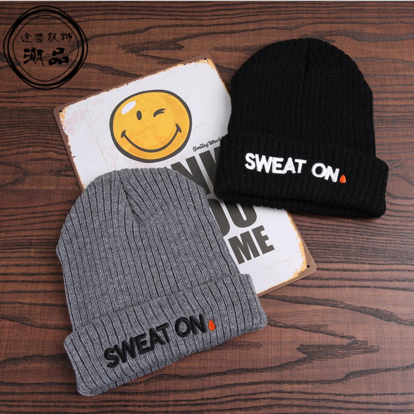 2017 Brand New Winter Beanies Sport Hats For Boys Girls Hat Hip Hop Ski Warm Letter Knitted Fashion Caps Gorros Hombres 2016 limited gorro gorros brand new women s cotton hip hop ring warm beanie cap winter autumn knitted hats beanies free shipping