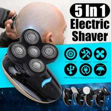 SPZ 5 in1 4D Floating Blade Head Rechargeable Men Electric Bald Shaver Beard Trimmer Razors Nose Hair Cutter Wet/Dry Washable