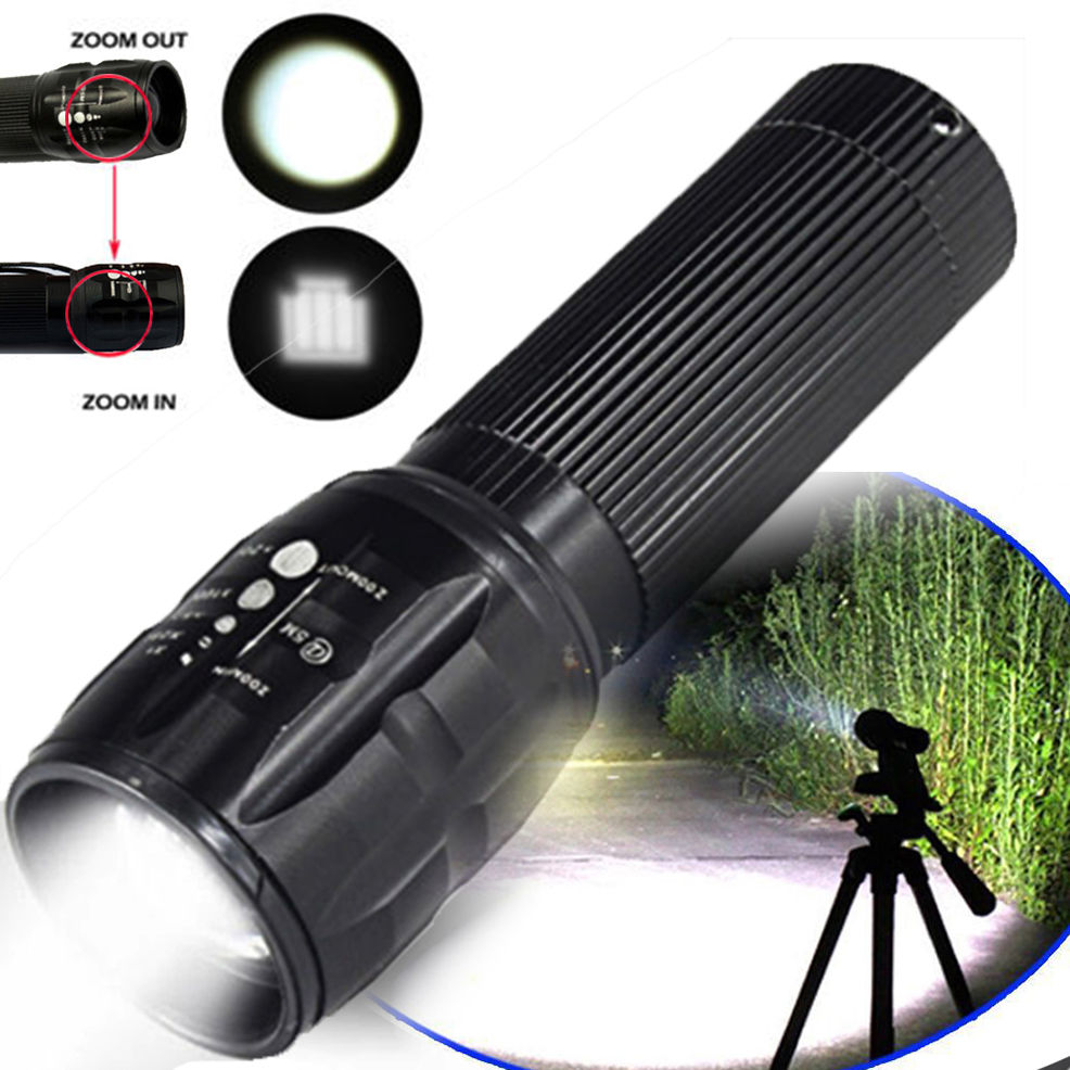 5000LM NEW HOT Hot Waterproof Torch Light XM-L T6 LED Flashlight Zoomable Flashlight  Spotlight AAA BZ