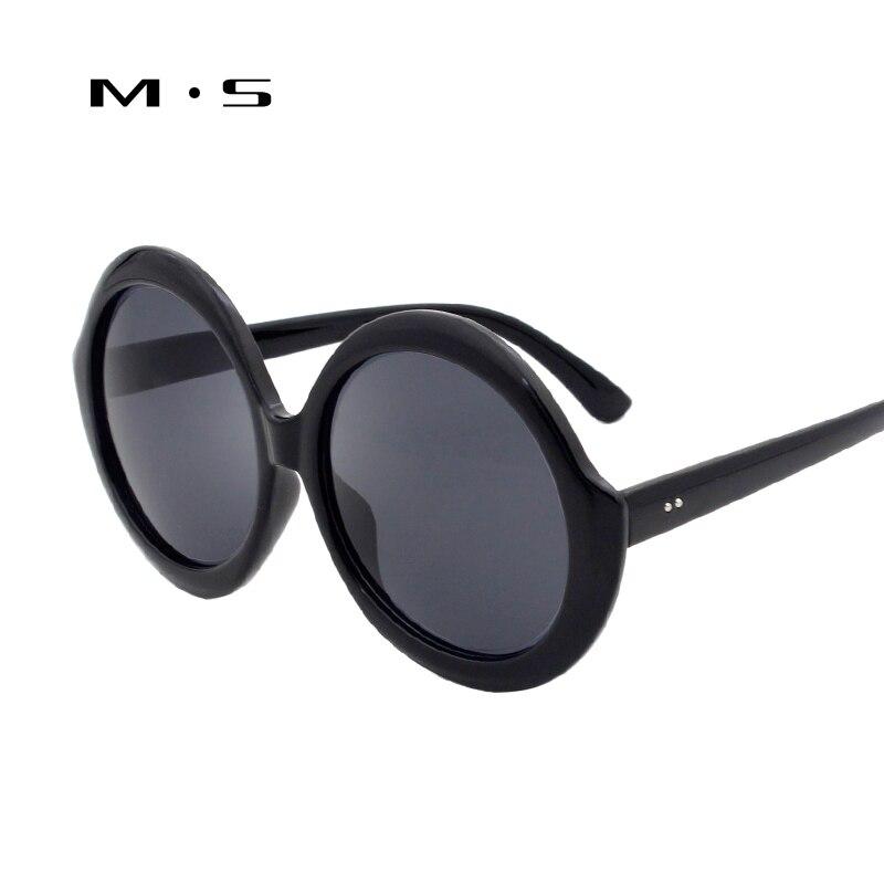 MS Fashion Women Sunglasses Oval Shades Luxury Brand Designer Oversized Frame Sun glasses Integrated EyewearUV400