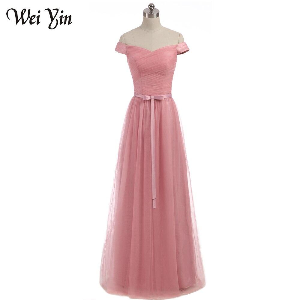 Weiyin sin mangas Clare rosa sin tirantes formal Vestidos sexo largo ...