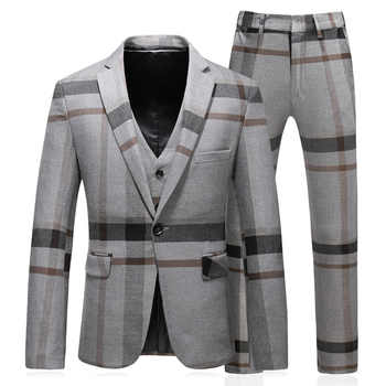 3 pieces terno masculino slim fit good quality fashion striped mens suits designers 2018 plus size 5xl - DISCOUNT ITEM  21% OFF All Category