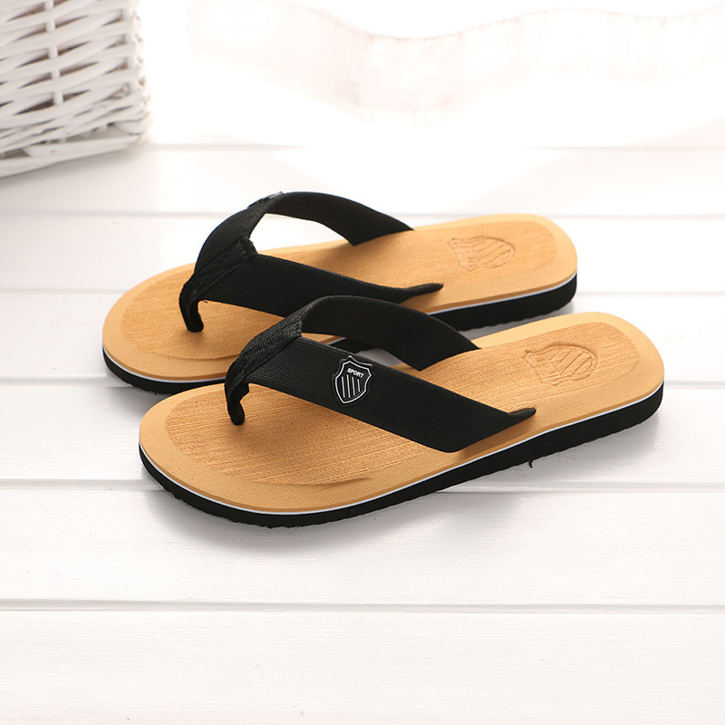 KESMALL Summer Beach Slippers Men Flip Flops High Quality Beach Sandals Zapatos Hombre Casual Shoe Wholesale WS321(China)