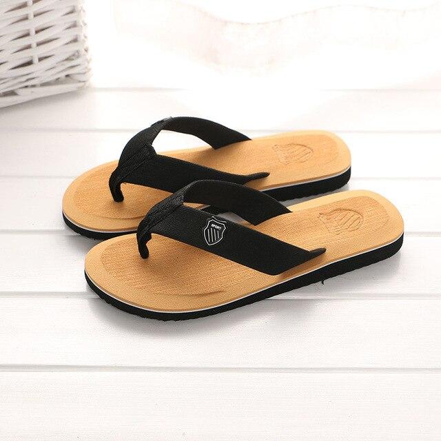 KESMALL Summer Beach Slippers Men Flip Flops High Quality Beach Sandals Zapatos Hombre Casual Shoe Wholesale WS321
