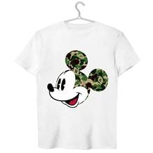 Funny  Mouse Funny head Men'S Cool Design Pattern Round Neck Short Sleeve T-Shirt Modal Printed Soft Short Sleeves цена в Москве и Питере