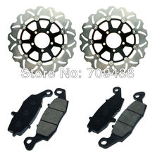 2 X Front Brake Disc Rotor+Pad For SUZUKI DL 650 K4/K5/K6 V-Strom 04-06 DL 1000 K2-K9 V-Strom 02-09