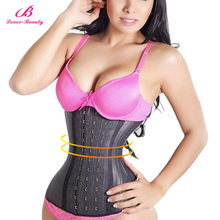 Corset Shaper Waist-Trainer Fajas Latex Lover Beauty Underbust Boned Steel Big-Hooks