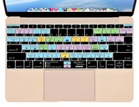 XSKN Brand For Mac OS X Shortcut Design Hot Keys Functional Silicone Keyboard Cover Skin For