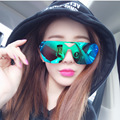 Newest Fashion Integrated Superstar Style Sunglasses Men/Women Colorful Reflective Coating Lens Eyewear Accessories Sunglasses