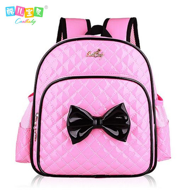 CoolBaby New 2017 Fashion Girls School Bags Kindergarten Cute Cartoon Book Bag Children Bowknot Baby Backpack A214 In From Luggage