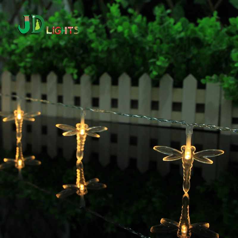 Dragonfly Fairy Lights Garland Lighting 10lamps LED String Light Patio Room  Decoration Christmas Lighted Neol Wedding