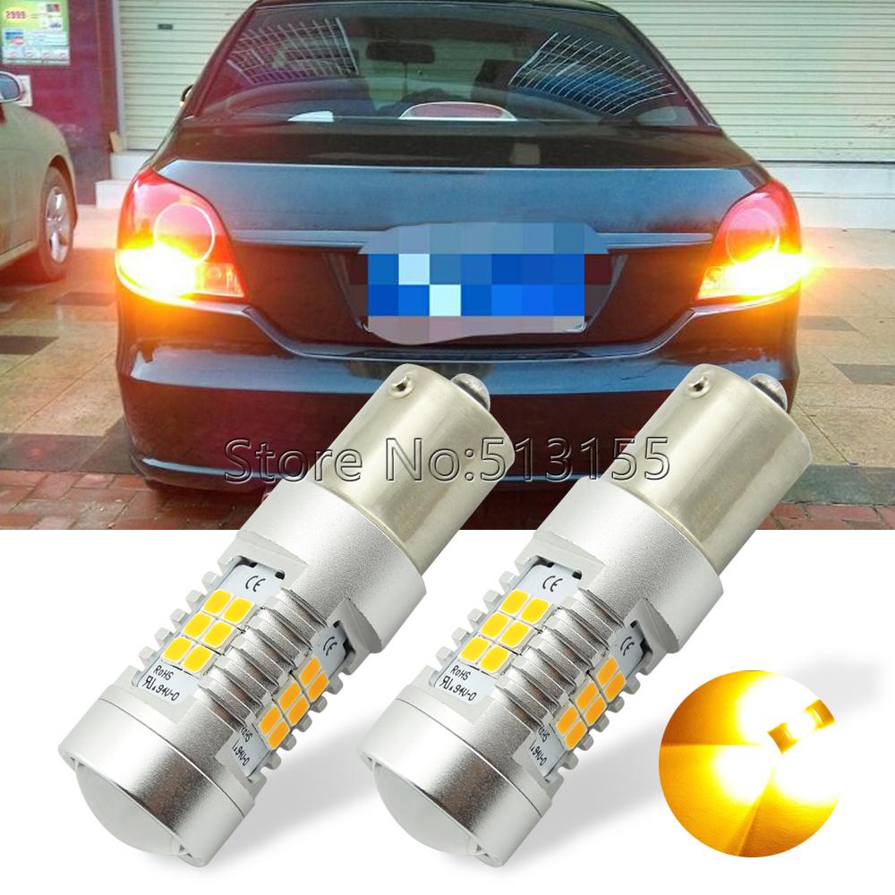 Prix pour 2 x Super Lumineux BAU15S PY21W LED 21-SMD LED Lumières Ampoules Pour Arrière Clignotants Queue Ampoules