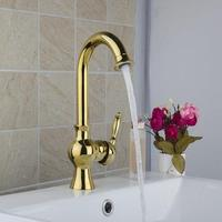 Best Kitchen Faucets Torneira Hight Quality Swivel Golden 9829K Basin Sink Water Tap Vessel Lavatory Faucets