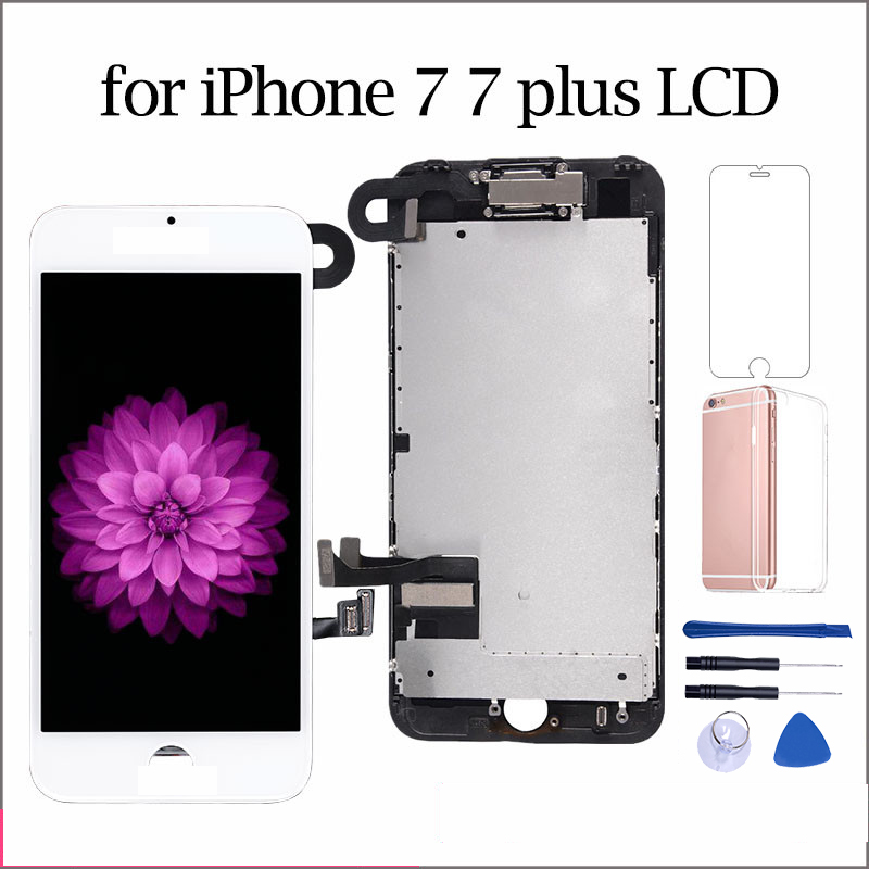 AAA++ LCD For iPhone6 6s 7 7 Plus Display Full Set Digitizer Assembly 3D Touch Screen Replacement +Front Camera+Earpiece Speaker image