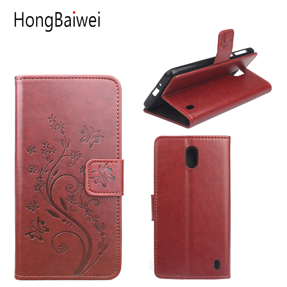 Flip Case For Nokia 2 Leather Luxury Wallet FLip Case For Nokia 5 6 Card SLots HoLder Stand Case