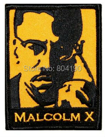 3 Cherry Malcolm X character Iron On Sew On Patch Tshirt TRANSFER MOTIF APPLIQUE Rock Punk