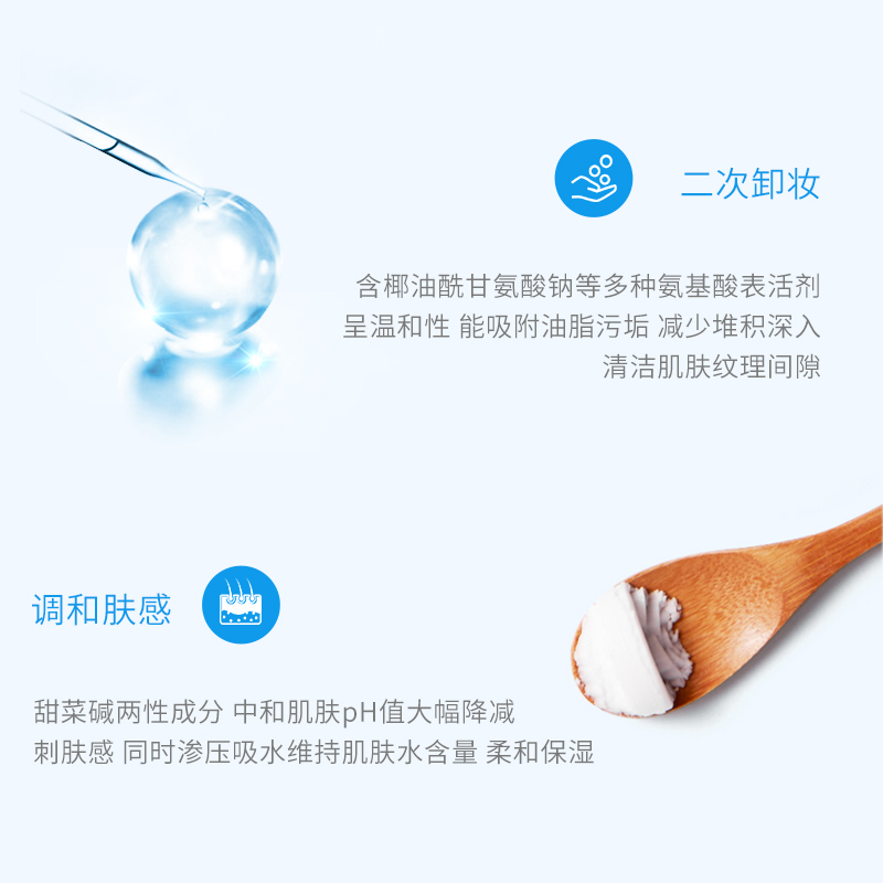 WIS carbonatadas mousse facial limpeza Profunda dos poros hidratante aminoácido limpador facial de controle de óleo leve - 2