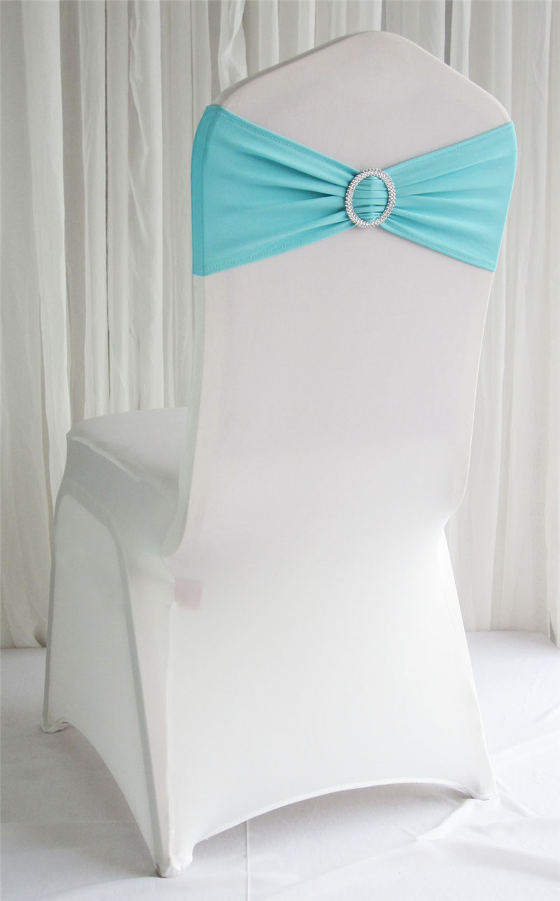 Tiffany Blue Chair Us 159 200 Tiffany Blue Spandex Chair Sash Lycra Band With Buckle For Wedding Free Shipping Stretch Elastic Chair Sash For Banquet In Sashes From