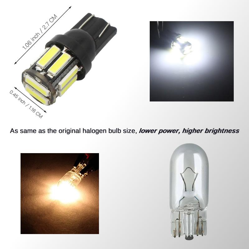 HTB18uZAinnI8KJjSszgq6A8ApXaI 4Pcs W5W 10-7020 SMD Car T10 LED 194 168 Wedge Replacement Reverse Instrument Panel Lamp White Blue Bulbs For Clearance Lights
