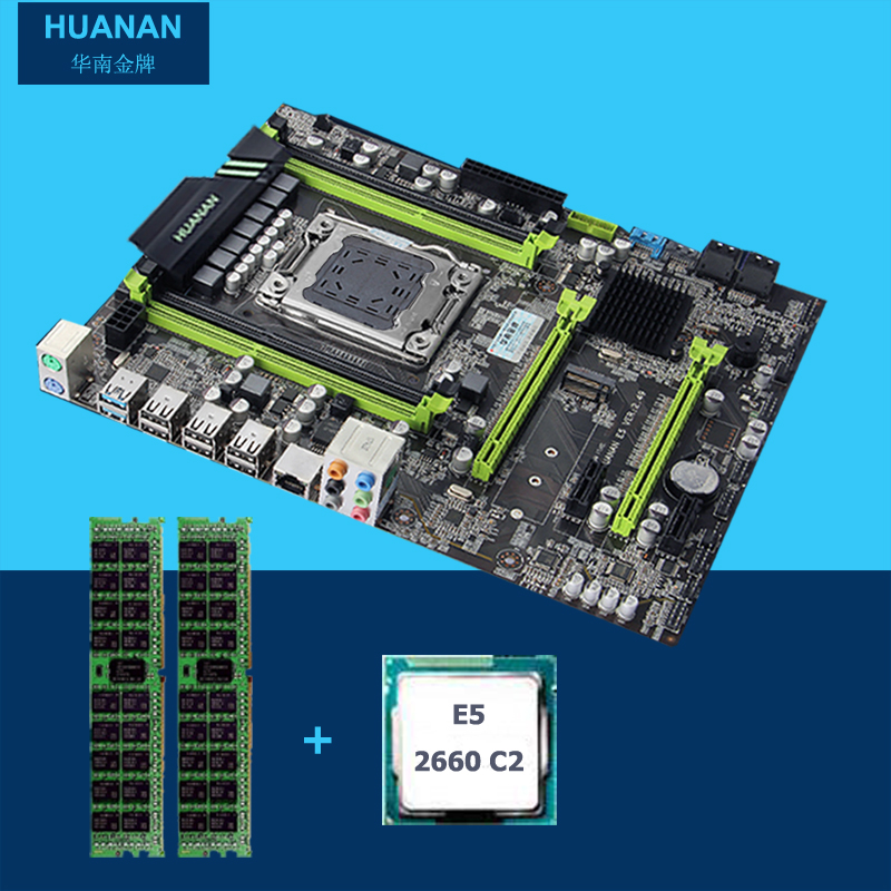 All tested new HUANAN V2.49 X79 motherboard CPU RAM combos X79 LGA2011 motherboard Xeon E5 2660 C2 memory (2*4G)8G DDR3 REG ECC