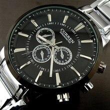 Curren relogios masculinos 2016 יוקרה מותג שעון גברים אופנה שעון קוורץ עסקי שעוני יד מקרית מלא פלדת גברים שעונים