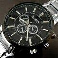 Relogios masculinos Curren 2016 Relógio Marca de Luxo Homens Relógio de Quartzo de Negócios de Moda Casual Relógio de Pulso Homens De Aço Completos Assistir