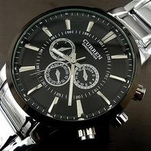 カレン relogios masculinos 2016 高級ブランド腕時計メンズファッション腕時計クオーツビジネスカジュアル腕時計全鋼のメンズ腕時計