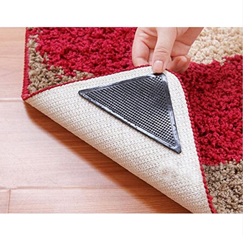 Washable Rugs Non Slip: 4pcs Rug Carpet Mat Grippers Non Slip Reusable Washable