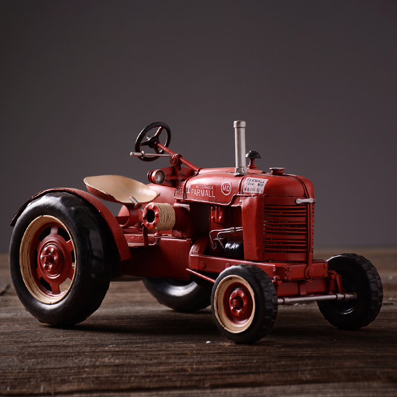 ᗖVintage iron handmade luxury old tractor model retro metal art car ...
