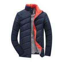 2016 Hot Sale Men Winter Jacket Korean Style Slim Fit Fashion Warm Thick Men Coat M-5XL men's clothing,EDA112