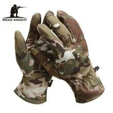 MEGE Tactical Shark Skin Soft Shell Camouflage Gloves,  Winter Unisex Warm Waterproof Windproof Fleece Floves