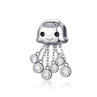 Tassel Charm Authentic 925 Sterling Silver Ocean Octopus Metal Beads For Silver Snake Charms Bracelet Fine Jewelry Bsc081