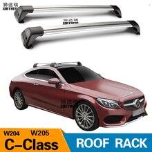 2 шт. для Mercedes-Benz C-Class W205 W204 2007 + бар на крыше автомобиля специальный алюминиевый сплав замок ремня светодио дный съемки стойки перекрестной стойки 2018