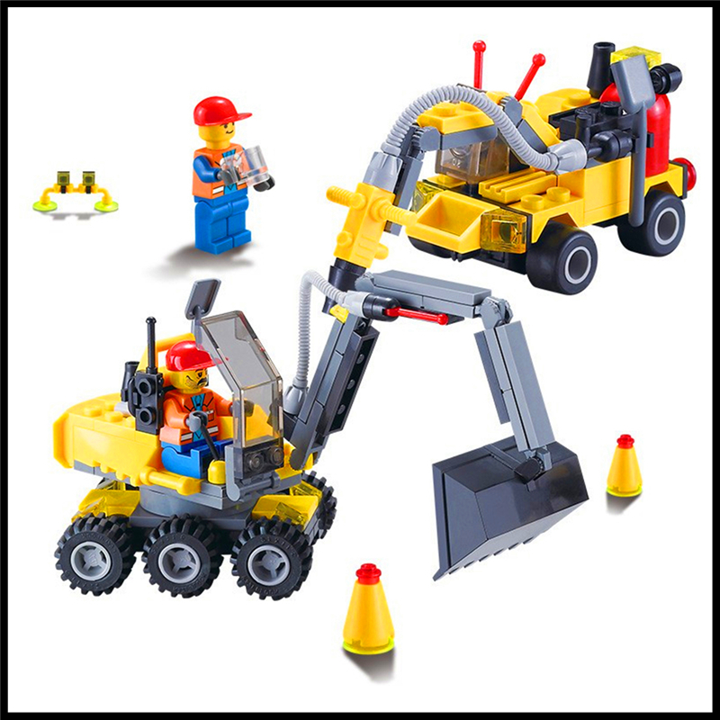 196Pcs Building Block Toys 2 IN 1 Ground Drill Excavator Model KAZI 6092 Figure Brinquedos Gift For Children Compatible Legoe christian cross 3d model relief figure stl format religion 3d model relief for cnc in stl file format