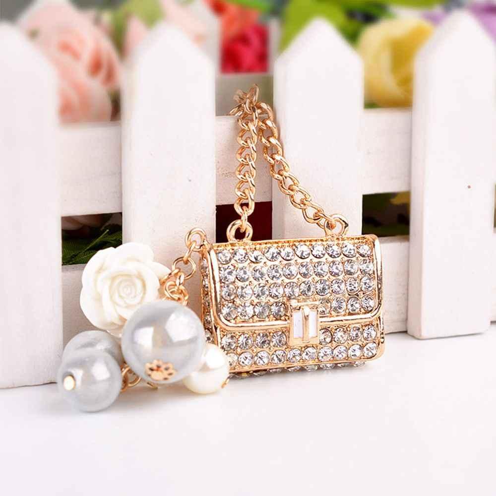 1 шт., новый стиль, модная Милая металлическая сумка в форме очаровательного кошелька, сумочка со стразами, подвеска автомобиль, брелки для ключей