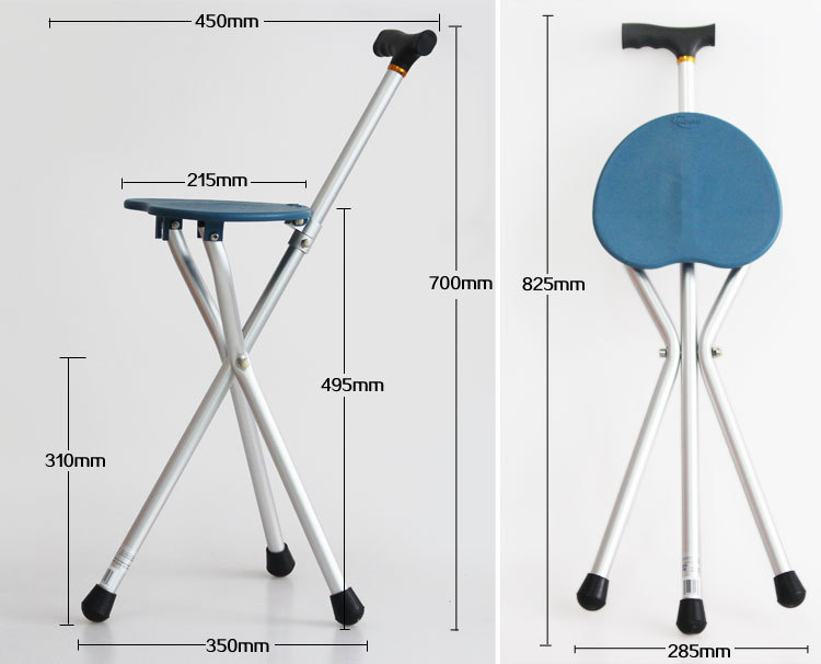 walking stick chair tables and chairs melb 1x tripod with seat folding cane stool for elderly old people fishing reading free shipping in sticks from sports