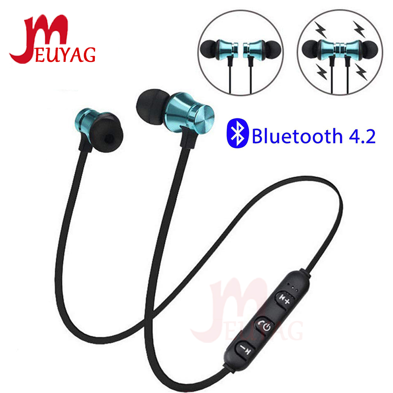 Meuyag Magnetic Wireless Bluetooth Earphone Xt11 Music Headset Phone Neckband Sport Earbuds Earphone With Mic For Iphone Samsung Ascenddeals