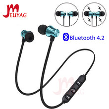 Meuyag Magnetic Nirkabel Bluetooth Earphone XT11 Musik Headset Ponsel Neckband Sport Earbud Earphone dengan MIC untuk Iphone Samsung(China)