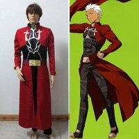 Red Fate Stay Night Archer Emiya Shirou Cosplay Costume Customized Any Size