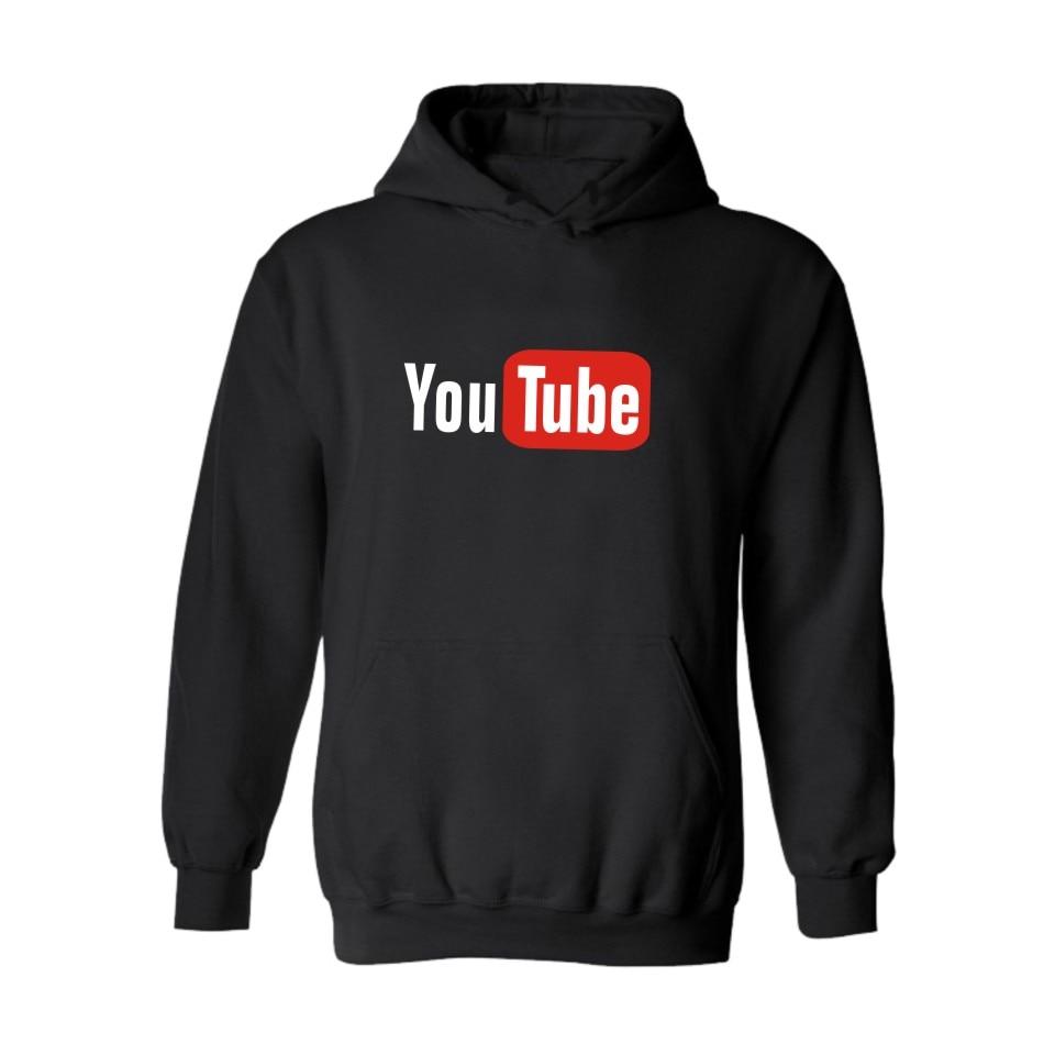Youtube Design Hoodie Sweatshirt Men/Women Fashion Pullover Hoodies Print You Tube Jacket Coat Sudaderas Hombre Brand Clothing