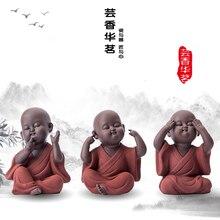 Ручной работы Будда чай питомец фиолетовый песок Будда монах чай Декор подноса аксессуары чайный набор кунг-фу K001