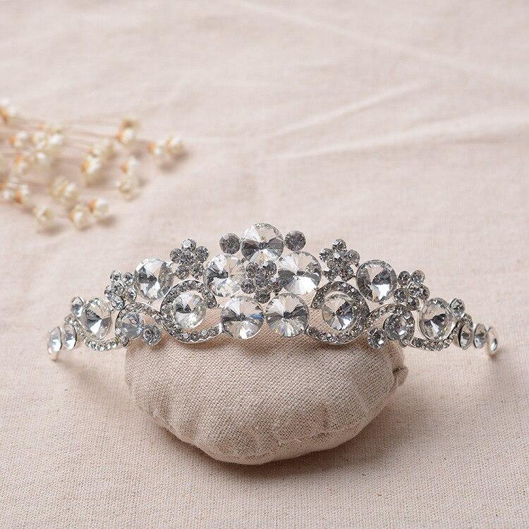 099 bride headdress plum <font><b>cup</b></font> glass ornaments wholesale rhinestone wedding jewelry alloy <font><b>crown</b></font>