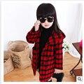 Free shipping 2015 new winter warm coat, girls cloth hooded windbreaker, 100% cotton children outerwear