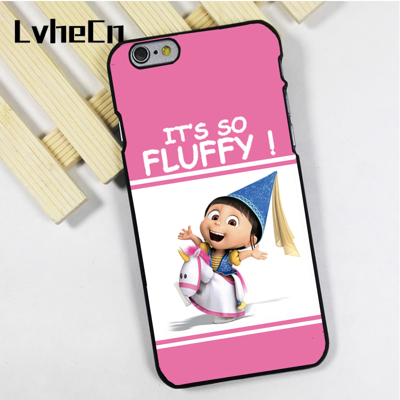 LvheCn phone case cover fit for iPhone 4 4s 5 5s 5c SE 6 6s 7 8 plus X ipod touch 4 5 6 Cute Girl its so fluffy