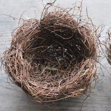 1pc Home Desktop Fake Bird Nest House Nature Vintage Decoration Bird Cage Photography Props Marriage Proposal Wedding Decor(China)